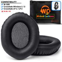 Wicked Cushions VModa XL Memory Cushions - Replacement Ear Pads Compatible with Vmoda m100 & Crossfade Series (Over-Ear) | Black