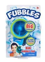 Little Kids Fubbles Biggest Bubbles Fan for Kids Creates 10X Larger Bubbles Includes 4oz of Bubbles, Blue/Green