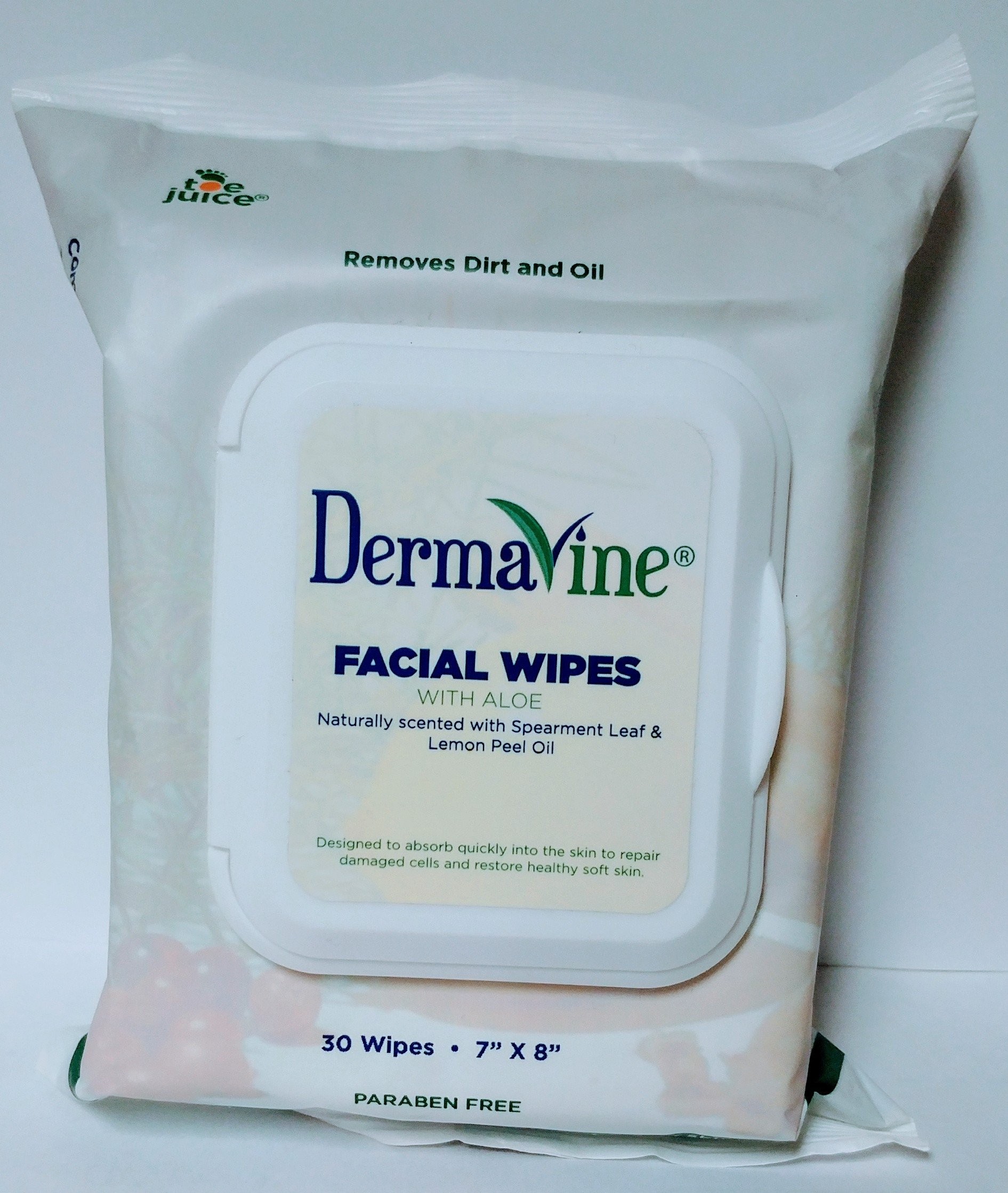 Buy 2 Get 2 FREE Offer!! Get 4 Packs of DermaVine Facial Cleansing Wipes (120 wipes) -Exfoliating Treatment for Acne, Dry Skin, Flaky Skin, Itchy Skin, Oily Skin, Sunburn Relief, Eczema, Psoriasis, and More