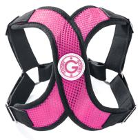 Gooby - Perfect Fit X Harness, Small Dog Choke Free Step-In Harness with Synthetic Lambskin Soft Strap