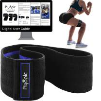 Plyopic Hip Resistance Bands for Women | Premium Non-Slip Fabric Bands for Lifting and Toning Glutes, Booty, Butt, Hips and Legs | Workout Guide Included
