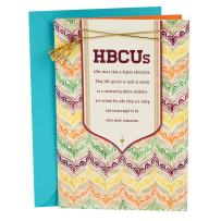 Hallmark Mahogany Graduation Card (HBCU, Historically Black Colleges and Universities)