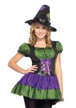 Leg Avenue Juniors 2 Piece Hocus Pocus Peasant Dress And Matching Witch Hat