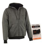 Milwaukee Performance-Men's Heated Hoodie w/Front&Back Heating Elements-BATTERY PACK INCLUDED-GREY-5X-LARGE