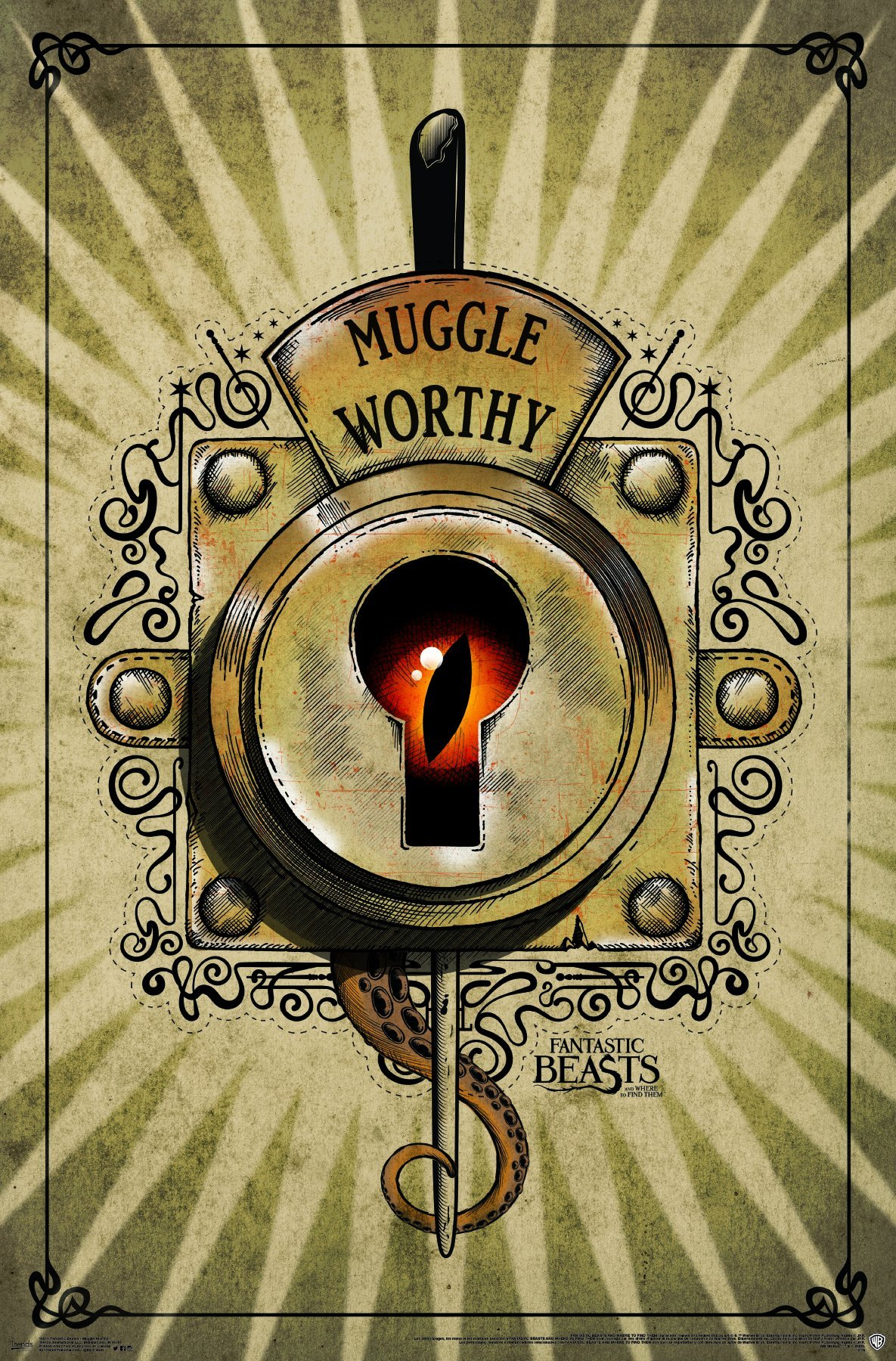 "Trends International Fantastic Beasts & Where to Find Them-Mugle Worthy Premium Wall Poster, 22.375"" x 34"""