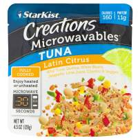 StarKist Creations Microwavables - Latin Citrus Tuna - 4.5 Oz Pouch (Pack Of 12)