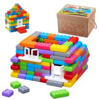 ECR4Kids Big Building Brick Set with Windows and Doors - 140 Piece Value Pack - Stacking Interlocking Blocks for Toddlers and Kids - Child-Safe STEM Sensory Builders for Ages 3+ (140 Pieces)