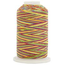 Threadart Variegated 100% Cotton Thread 600M   For Quilting, Sewing, and Serging   Color 2653 Carnival   40/3wt   22 Colors Available