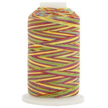 Threadart Variegated 100% Cotton Thread 600M | For Quilting, Sewing, and Serging | Color 2653 Carnival | 40/3wt | 22 Colors Available
