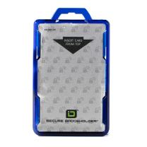ID Stronghold - RFID Blocking Secure Badge Holder - Duolite 2 Card ID Holder - Poly Carbonate - Heavy Duty Hard Plastic ID Badge Holder - Molded and Assembled in The USA - FIPS 201 Approved - Blue