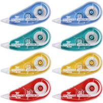 """Stationery Island Correction Tape Pack Of 8 – 5m x 5mm (16.4ft x 0.2""""). Pocket White Out Tape. For Office Administration, Note Taking, Marking, Crafting, Bullet Journal And Scrapbooking"""