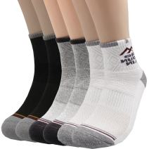 Pro Mountain Cotton Quarter Socks - For Hiking Athletic Sports Workout Work Boot