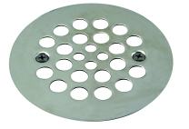 """Westbrass 4-1/4"""" O.D. Shower Strainer Plastic-Oddities Style, Polished Nickel, D3193-05"""