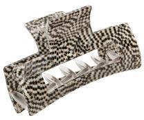 France Luxe Midi Cutout Rectangle Jaw - Opera Silver