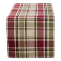 "DII CBBB01335 Cotton Table Runner for Wedding, Birthday, Dinner Parties, Christmas, Holidays, or Everyday Use, 13""x72"", Homespun Plaid, 1 Unit"