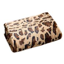 "Cheer Collection Animal Print Throw Blanket | Soft Velvety Faux Fur Microplush Reversible Cozy Warm Throw Blanket - 60"" x 70"" - Leopard"