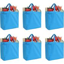 """Reusable Heavy Duty 100% Cotton Canvas Grocery Bags by Threadart 
