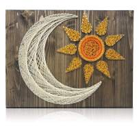 DIY String Art Kit - Sun and Moon String Art Kit, Sun and Moon Decor, Craft Kit for Adults, Adults Arts and Crafts, Craft Project Kits, Sun and Moon Decor, All Supplies Included