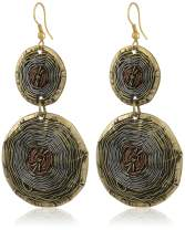 Sunsoul Bohemian Mandala Large Multi Faceted Woven Basket Theme Designer Earrings In Fine Concentric Wires In Antique Gold, Silver And Copper Tones for Women. gift for mom mother's day gifts