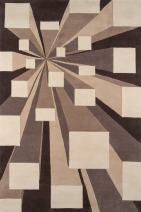 """Momeni Rugs New Wave Collection, 100% Wool Hand Carved & Tufted Contemporary Area Rug, 7'6"""" x 9'6"""", Concrete Grey"""