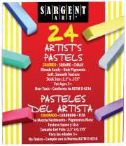 Sargent Art 22-4124 Colored Square Chalk Pastels, 24 Count