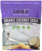 Laird Superfood Organic Coconut Sugar - Low Glycemic Sweetener | No Artificial Ingredients | 1 lb Bag