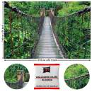 Great Art Photo Wallpaper Suspension Bridge Decoration 210x140 cm / 82.7x55in – Tropical Rainforest Inka Rope-Bridge Peru South America Nature Mural – 5 Pieces Includes Paste