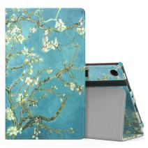 MoKo Case for All-New Amazon Fire HD 8 Tablet (7th/8th Generation, 2017/2018 Release) - Slim Folding Stand Cover for Fire HD 8, Almond Blossom (with Auto Wake/Sleep)