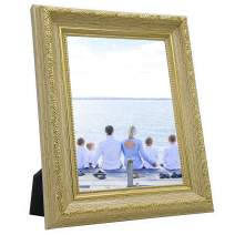 OIYEA 4x6 Picture Frames PS Materials,HD PVC Transparent Board with Family, Personal, Baby and Landscape Photos Yellow