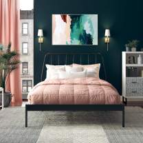 CosmoLiving by Cosmopolitan CosmoLiving Anastasia Metal, Full Size Frame, Black Bed