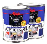 Majic Paints Diamond Hard High Gloss Finish Acrylic Enamel Paint, 2-Quart, Blue