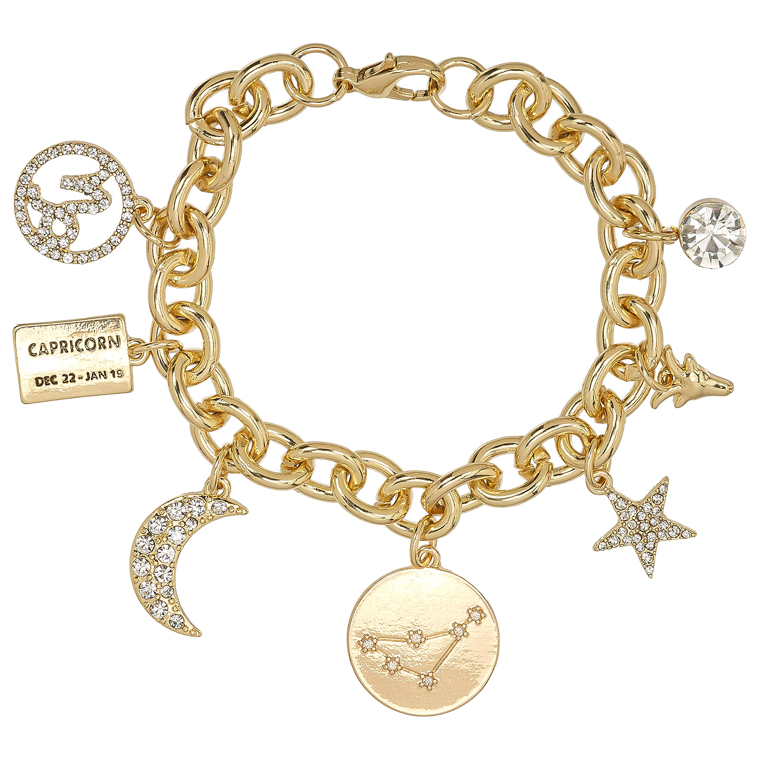 SALE ~ Gemini Twins Rhinestone Charm Silver Plated Lined Bangle Bracelet 7.5 Inches