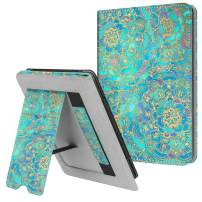 Fintie Stand Case for All-New Kindle (10th Generation, 2019) / Kindle (8th Generation, 2016) - Premium PU Leather Protective Sleeve Cover with Card Slot and Hand Strap, Shades of Blue