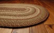 Homespice Oval Jute Braided Rugs, 4-Feet by 6-Feet, Harvest