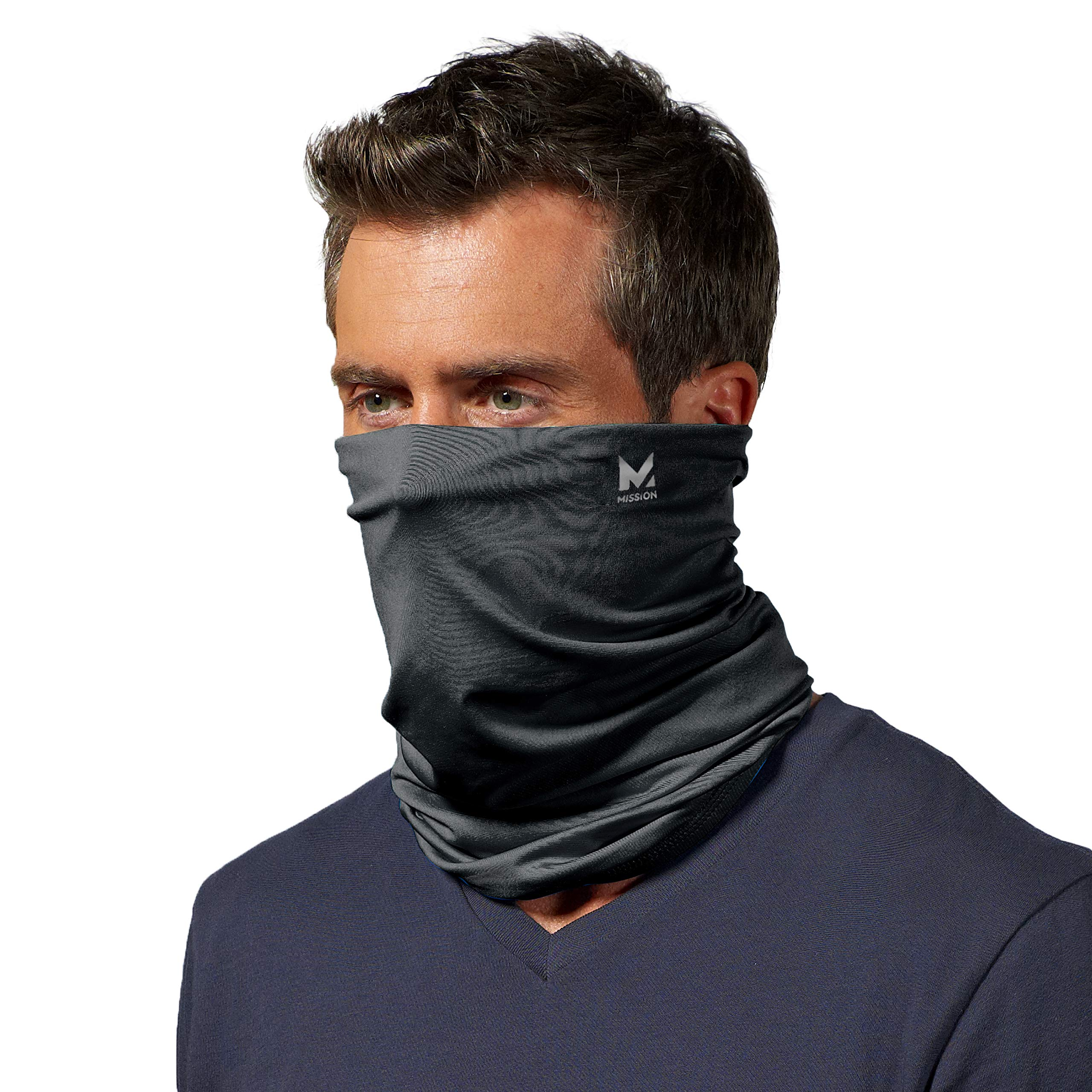 Mission Cooling Neck Gaiter 12+ Ways To Wears, Face Mask, UPF 50, Cools when Wet
