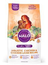 Halo Natural Dry Dog Food, Chicken & Chicken Liver Recipe