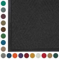 WaterHog Diamond | Commercial-Grade Entrance Mat with Rubber Border – Indoor/Outdoor, Quick Drying, Stain Resistant Door Mat (Charcoal, 4' x 8')