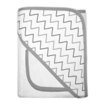American Baby Company Terry Hooded Towel Set Made with Organic Cotton, Grey Chevron, for Boys and Girls