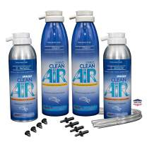 Clean Air Evaporator Coil Cleaner & Refresher - 2 Car Kit with Ball Bit Installation Hand Tool (Unscented) Renew Your air Conditioner! (Treatment for 2 Vehicles)