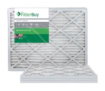 FilterBuy 24x25x1 MERV 8 Pleated AC Furnace Air Filter, (Pack of 4 Filters), 24x25x1 – Silver