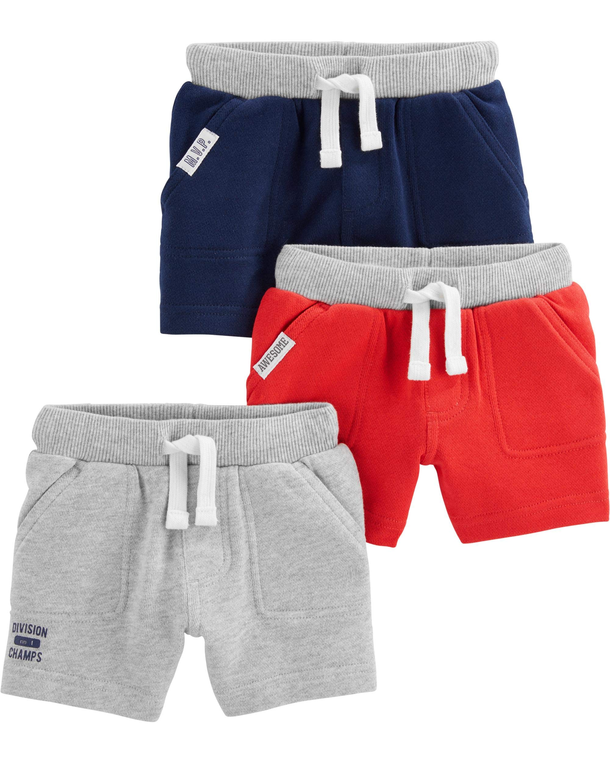 Simple Joys by Carter's Baby and Toddler Boys' Multi-Pack Knit Shorts