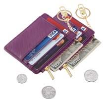 Sodsay 2 Pack Card Case Slim Front Pocket Wallet for Women Credit Card Holder with Keychain