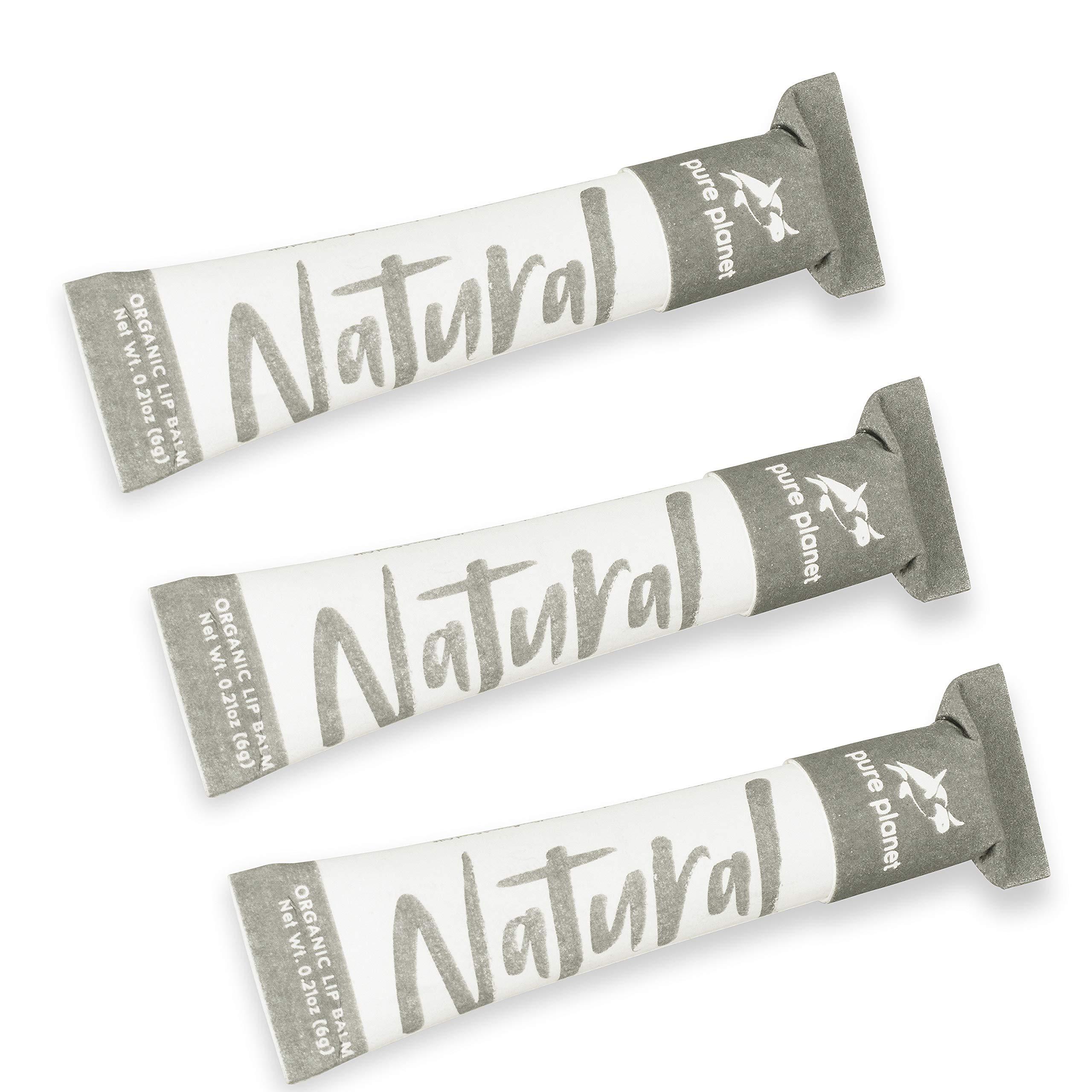 Pure Planet Club - Organic Lip Balm (3-Pack) (Natural)