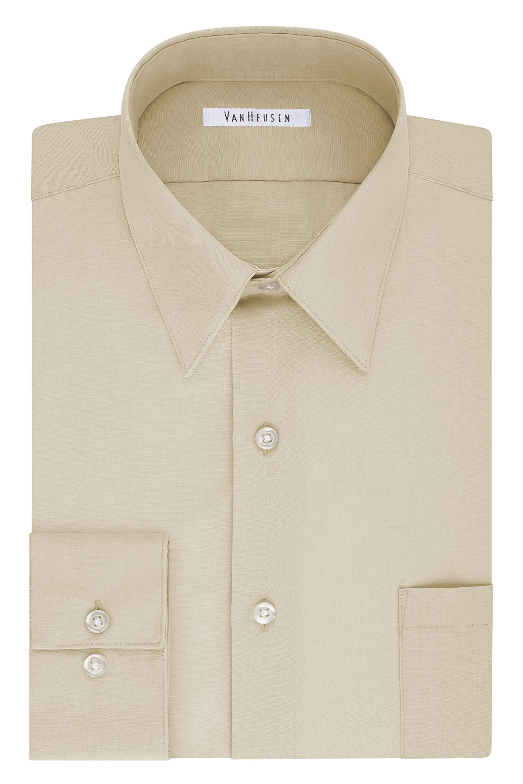Van Heusen Men's Tall Fit Dress Shirts Poplin (Big and Tall)