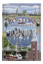Boston, Massachusetts - Montage (Premium 1000 Piece Jigsaw Puzzle for Adults, 20x30, Made in USA!)