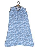 Bacati - Muslin Ikat Animal Prints Sleep Sack (Wearable Blankets) (Small, Blue/Grey)