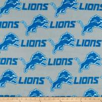 Traditions NFL Fleece Detroit Lions Grey Multi, Fabric by the Yard