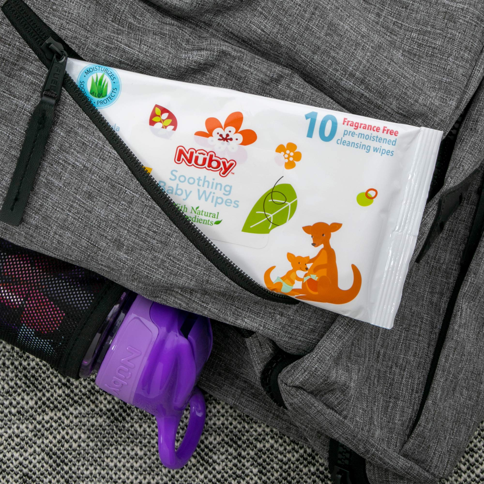 Nuby Natural Soothing Baby Wipes with Chamomile & Aloe, Fragrance Free, Extra Thick, 240 Count (62001)