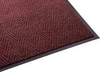 Guardian Golden Series Chevron Indoor Wiper Floor Mat, Vinyl/Polypropylene, 4'x8', Red