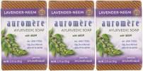 Auromere Ayurvedic Bar Soap, Lavender Neem - Eco Friendly, Handmade, Vegan, Cruelty Free, Natural, Non GMO (2.75 oz), 3 pack